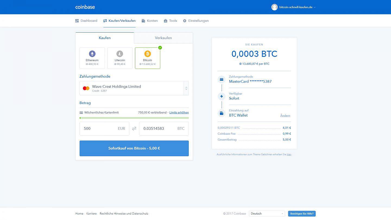 schnell bitcoin kaufen